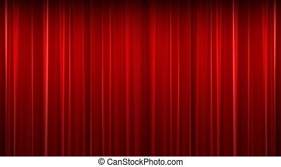 rideau, rouges, velours, théâtre