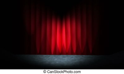 rideau, théâtre, 4k, ouvre