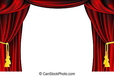 th tre cin ma sc ne vector curtain ou vecteurs eps rechercher des clip art des. Black Bedroom Furniture Sets. Home Design Ideas