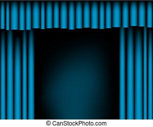 rideaux, ouvert