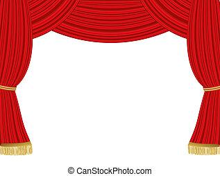 rideaux, théâtre, fond
