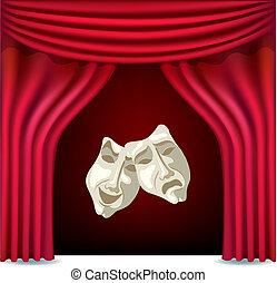 rideaux, théâtre