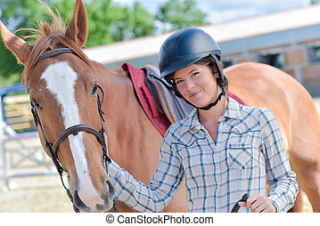 rider and her horse