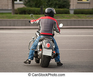 rider on motorcycle