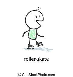 Rider on roller skates