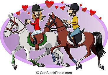 Riders in love