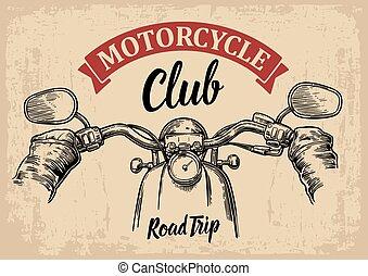 rides., vezetés, bringás, motorkerékpár, first-person, kilátás