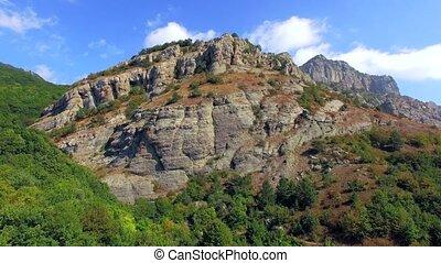 Ridge Of Famous Mountain Demerdzhi At Sunny Day in Crimea