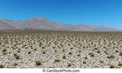 ridgecrest., collines, vue, déserter ciel, désert mojave, ...