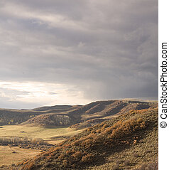 Ridgeline view - View over a ranch in the high country...