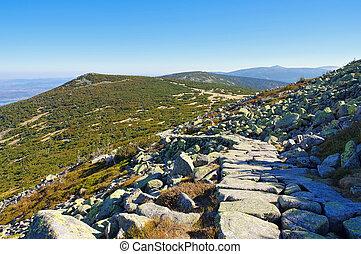ridgeway, trilha hiking, em, gigante, montanhas