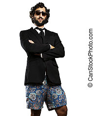 ridiculous business man - portrait of young business man ...
