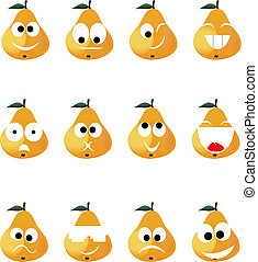Ridiculous expressions of the person of vegetables and fruit