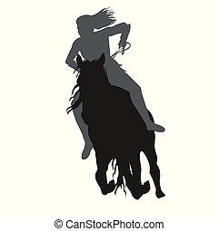 Riding a running horse