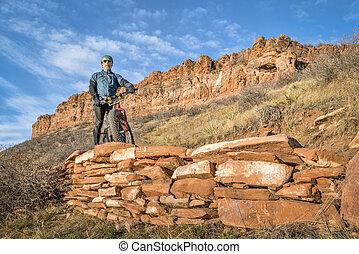 riding fat bike on mountain trail in Colorado