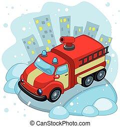 Riding Fire Truck