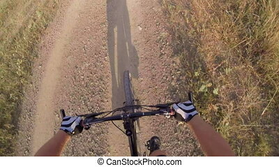 Riding mountain bike