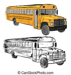 Riding school buses