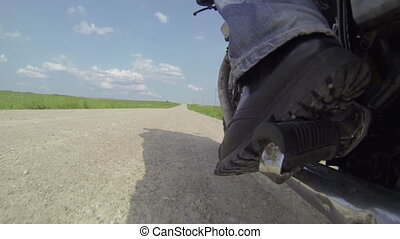 Riding Scrambler Motorcycle Wheel Cam