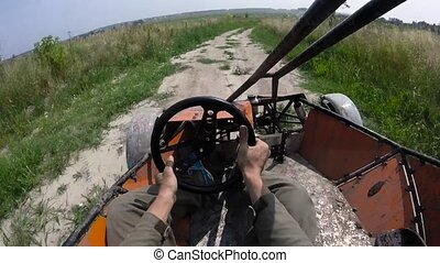 Riding the buggy first person view