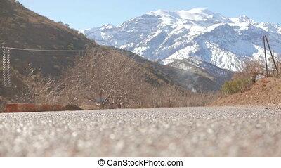 Riding through the Morocco - Riding on the handbike through...