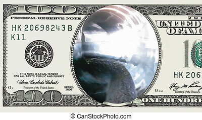 Riding water slide tube tunnel in 100 dollar bill - Riding...