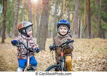ridning cykel, ungdomar