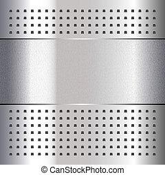 ridset, på, chrome, metal, baggrund, 10eps
