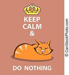 rien, calme, garder