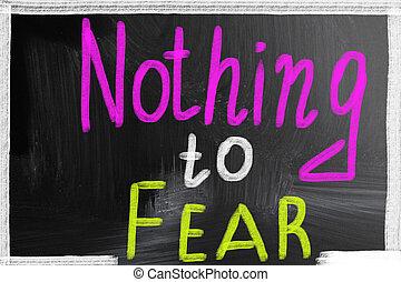 rien, peur