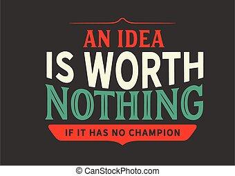 rien, valeur, idée