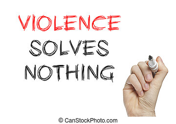 rien, violence, main, résout, écriture