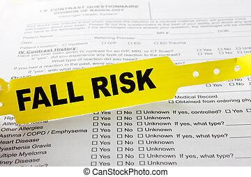 riesgo, cima, pulsera, otoño, cuestionario, hospital