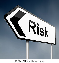 riesgo, concept.