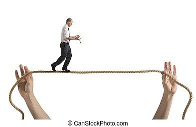 riesgos, y, desafíos, de, vida negocio