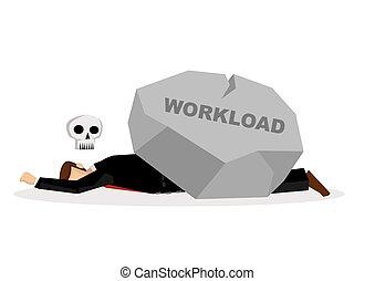 riesig, oder, workload., geschaeftswelt, titel, überarbeiten...