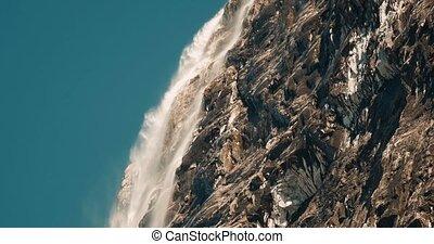 riesig, unnamed, wasserfall, in, norwegen, -, cinematic, stil