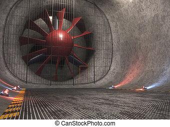 riesig, windtunnel