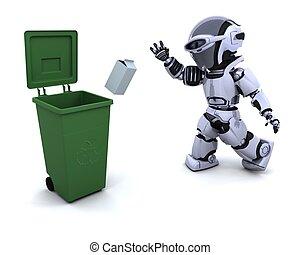 rifiuti, robot