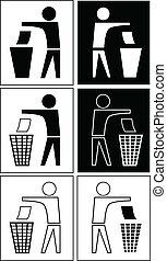 rifiuti, segno