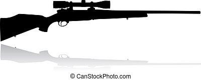 rifle, alcance, francotirador