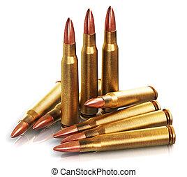 Rifle gun bullets - Creative abstract war and automatic...