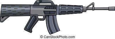 Rifle gun in modern design