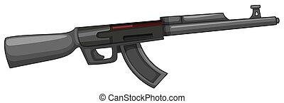 Rifle gun on white