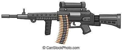Rifle gun with bullets