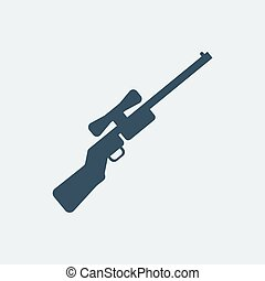 Rifle icon. Vector illustration