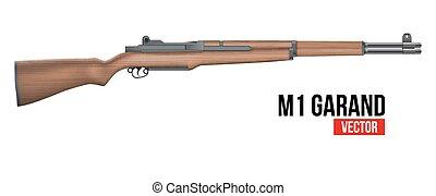 Rifle M1 Garand Vector - M1 Garand semi-automatic rifle that...