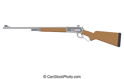 Rifle on white - A illustration of a rifle on a white...