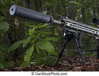 Rifle silencer