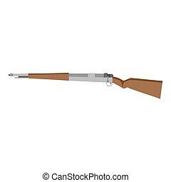 Rifle sniper vector gun icon hunting isolated illustration ...